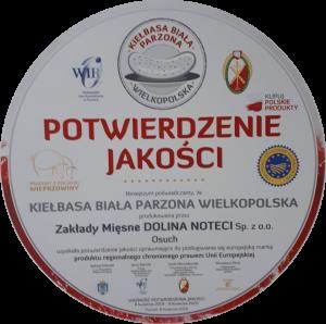 Wysoka ocena Kiełbasy Białej Parzonej Wielkopolskiej